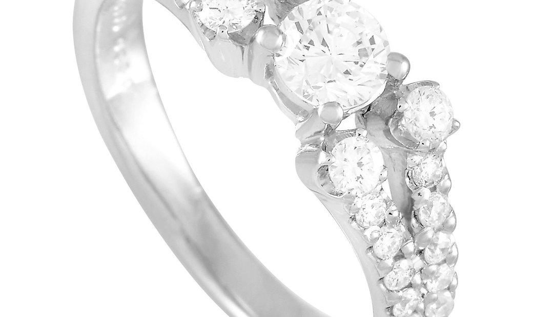LB Exclusive LB Exclusive Platinum 0.85 ct Diamond Ring