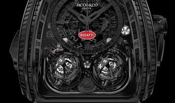Jacob & Co. 捷克豹 [NEW] Twin Turbo Furious Bugatti La Montre Noire TT800.31.AA.UA.A