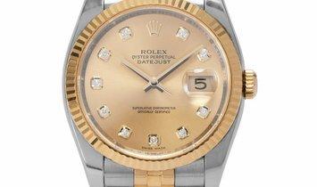 Rolex Datejust 116233, Baton, 2007, Very Good, Case material Steel, Bracelet material: