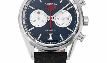 TAG Heuer Carrera CV211A.FC6335, Baton, 2018, Very Good, Case material Steel, Bracelet