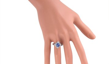 LB Exclusive LB Exclusive Platinum 0.45 ct Diamond and Sapphire Ring