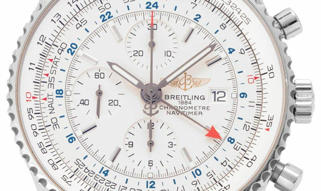 Breitling Navitimer World A2432212.G571.443A, Baton, 2011, Very Good, Case material Ste
