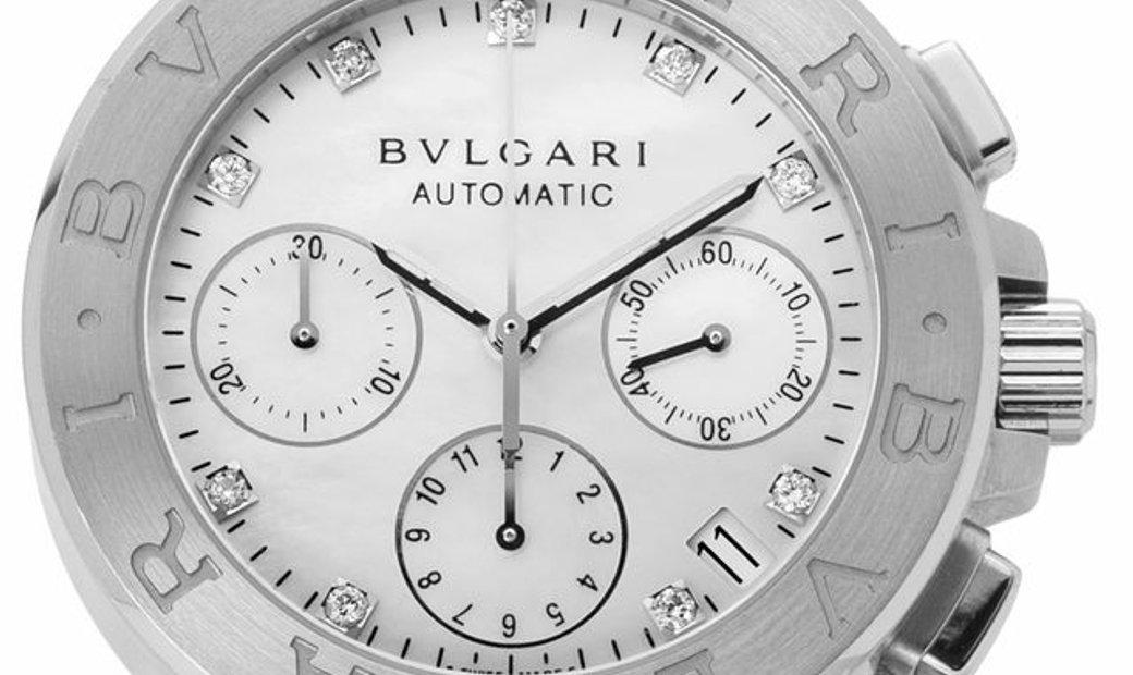 Bvlgari Diagono DG35SCH, Baton, 2017, Very Good, Case material Steel, Bracelet material