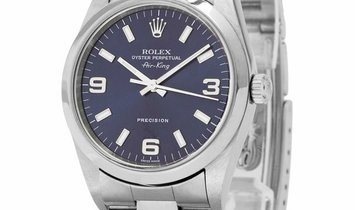 Rolex Air-King 14000, Arabic Numerals, 1999, Very Good, Case material Steel, Bracelet m