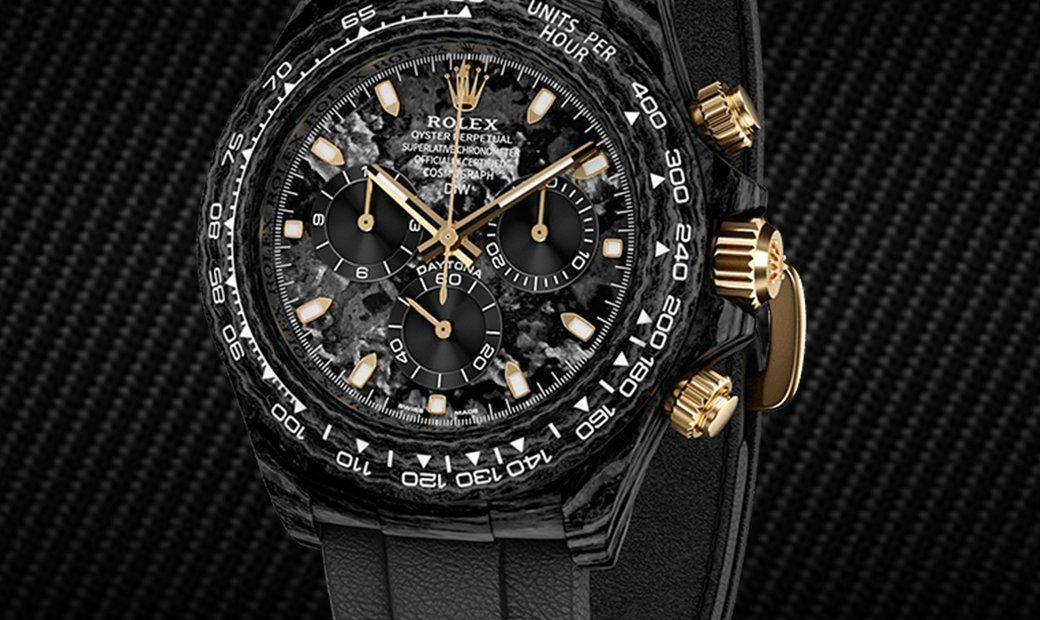 "Rolex DiW Cosmograph NTPT Carbon Daytona ""BLACK & GOLD"" (Retail:US$53,990)"