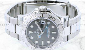 Rolex Yacht Master 40 126622-0001 Oystersteel and Platinum Dark Rhodium Dial