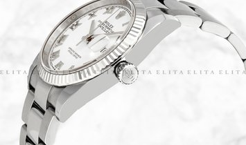 Rolex Datejust 36 126234-0026 Oystersteel and White Gold White Dial Roman Numerals Oyster Bracelet