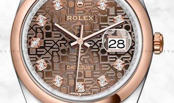 Rolex Datejust 36 126201-0025 Everose Rolesor Diamond, Chocolate Jubilee Dial, Jubilee Bracelet