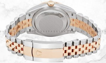 Rolex Datejust 36 126201-0021 Everose Rolesor Diamond, White Mother of Pearl  Dial Jubilee Bracelet