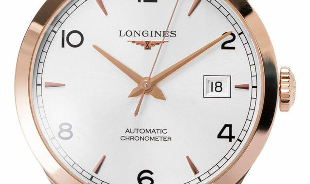 Longines Record  L2.820.5.76.2, Baton, 2018, Very Good, Case material Steel, Bracelet m