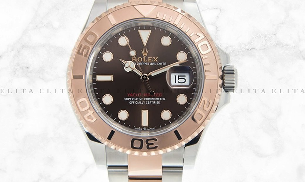 Rolex Yacht Master 37 268621-0003 Oystersteel and 18K Everose Gold Chocolate Dial