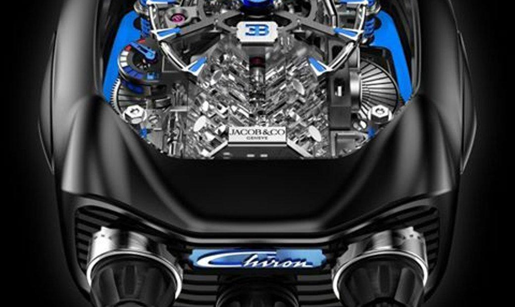 Jacob & Co. 捷克豹 Bugatti Chiron 16 Cylinder Piston Engine Tourbillon