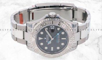 Rolex Yacht Master 37 268622-0002 Oystersteel and Platinum Dark Rhodium Dial