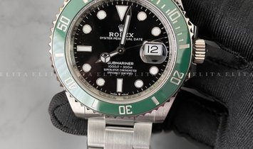 Rolex Submariner Date 126610LV-0002 Oystersteel Green Ceramic Bezel and Black Dial