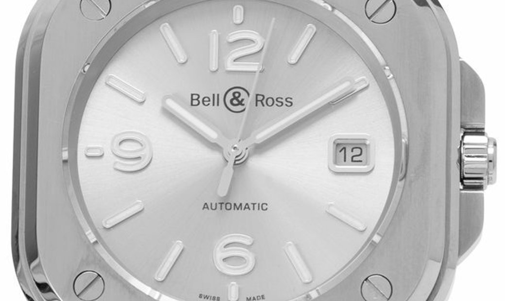 Bell and Ross BR 05 Steel  BR05A-GR-ST/SST, Baton, 2019, Very Good, Case material Steel