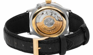 Longines Lindbergh Hour Angle 628.5240, Roman Numerals, 1997, Good, Case material Steel