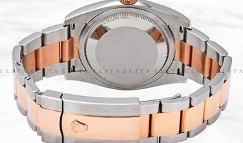 Rolex Datejust 36 126201-0016 Oystersteel and Everose Gold White Dial Oyster Bracelet