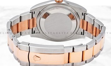 Rolex Datejust 36 126201-0018 Oystersteel and Everose Gold White Dial Oyster Bracelet