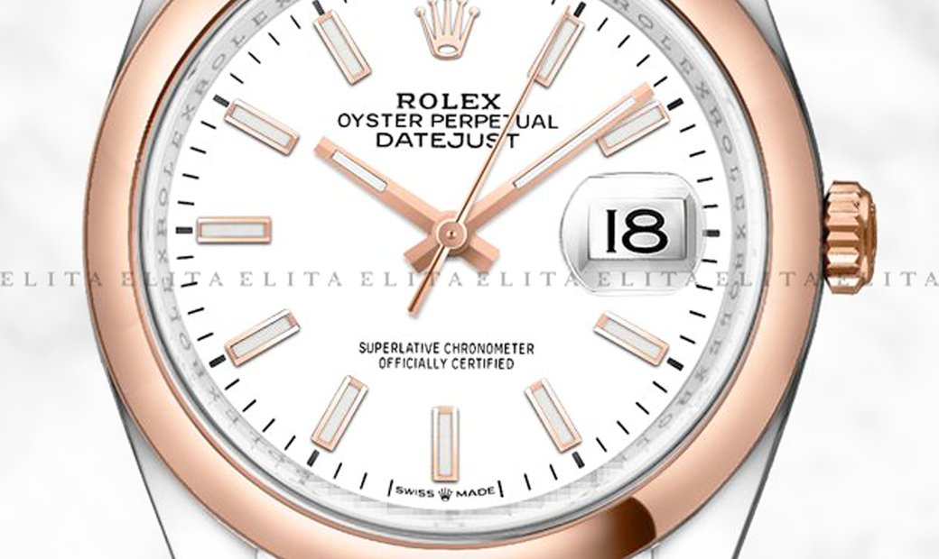 Rolex Datejust 36 126201-0017 Oystersteel and Everose Gold White Dial Jubilee Bracelet