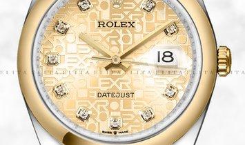 Rolex Datejust 36 126203-0034 Yellow Rolesor Diamond Set Champagne Colour Jubilee Motif Dial