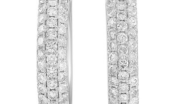 LB Exclusive LB Exclusive 14K White Gold 1.50 ct Diamond Earrings
