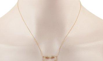LB Exclusive LB Exclusive 14K Yellow Gold 1.15 ct Diamond Heart Pendant Necklace