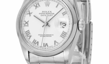 Rolex Datejust 16200, Roman Numerals, 2003, Very Good, Case material Steel, Bracelet ma