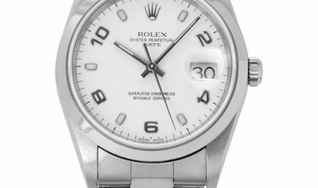 Rolex Oyster Perpetual Date 15200, Arabic Numerals, 2006, Very Good, Case material Stee