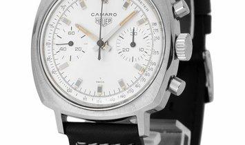 Heuer Camaro 7743, Baton, 1966, Good, Case material Steel, Bracelet material: Leather