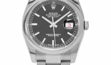 Rolex Datejust 116200, Baton, 2012, Very Good, Case material Steel, Bracelet material: