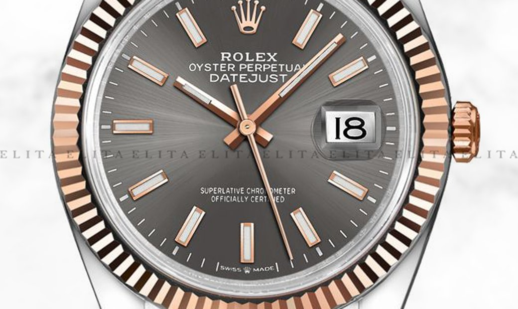 Rolex Datejust 36 126231-0013 Oystersteel and Everose Gold Dark Rhodium Dial Jubilee Bracelet