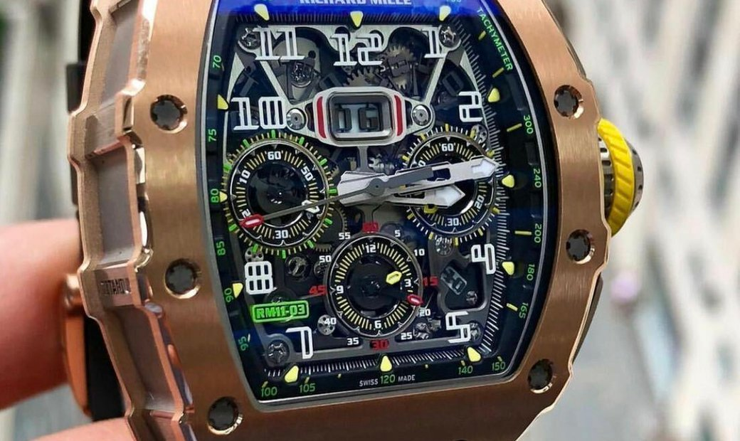 Richard Mille [2019 LIKE NEW] RM 11-03 Rose Gold & Titanium Automatic Flyback Chronograph