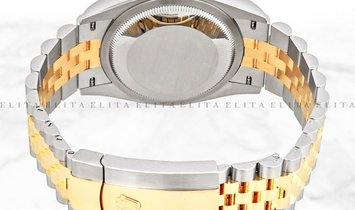 Rolex Datejust 36 126233-0019 Oystersteel and Yellow Gold White Dial Jubilee Bracelet