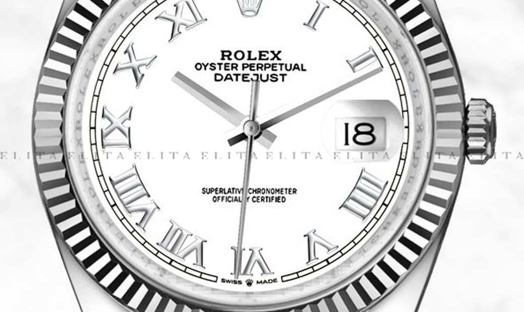 Rolex Datejust 36 126234-0025 Oystersteel and White Gold White Dial Roman Numerals Jubilee Bracelet