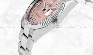 Rolex Datejust 36 126234-0032 White Rolesor Diamond Set Pink Dial Roman Numerals Oyster Bracelet