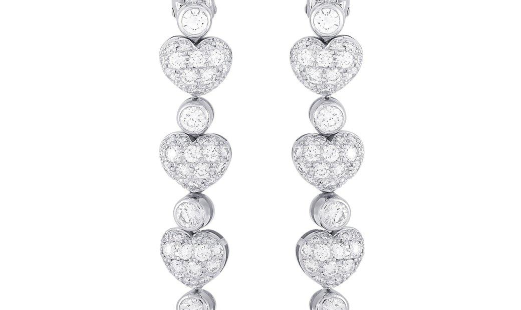 Chopard Chopard 18K White Gold 3.70 ct Diamond Earrings