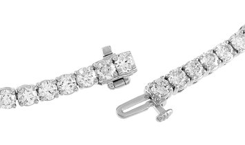 LB Exclusive LB Exclusive 14K White Gold 7.85 ct Diamond Tennis Bracelet