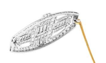 Tiffany & Co. Tiffany & Co. Platinum and 18K Yellow Gold ~4.50 ct Diamond Art Deco Brooch