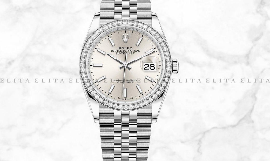 Rolex Datejust 36 126284RBR-0005 White Rolesor Silver Dial Diamond Bezel Jubilee Bracelet