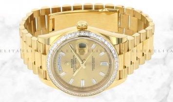 Rolex Day-Date 40 228398TBR-0002 18 Ct Yellow Gold Diamond Set Champagne Dial Diamond Bezel