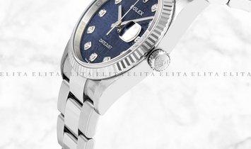 Rolex Datejust 36 126234-0012 White Rolesor Diamond Set Blue Jubilee Design Dial Oyster Bracelet