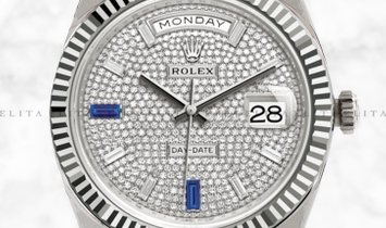 Rolex Day-Date 40 228239-0049 18K White Gold Diamond Paved Dial