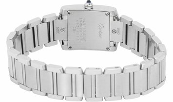 Cartier Tank Francaise W51008Q3 2384, Roman Numerals, 2012, Very Good, Case material St