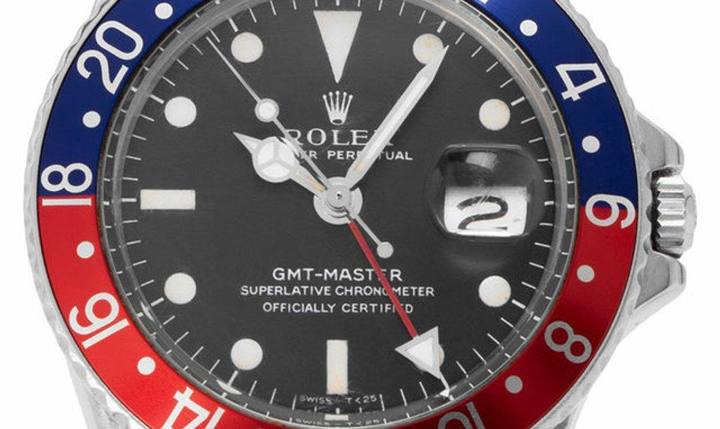 Rolex GMT-Master 1675, Baton, 1971, Good, Case material Steel, Bracelet material: Steel