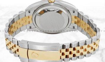 Rolex Datejust 36 126203-0031 Yellow Rolesor Diamond Set Roman Numerals Silver Dial Jubilee Bracelet