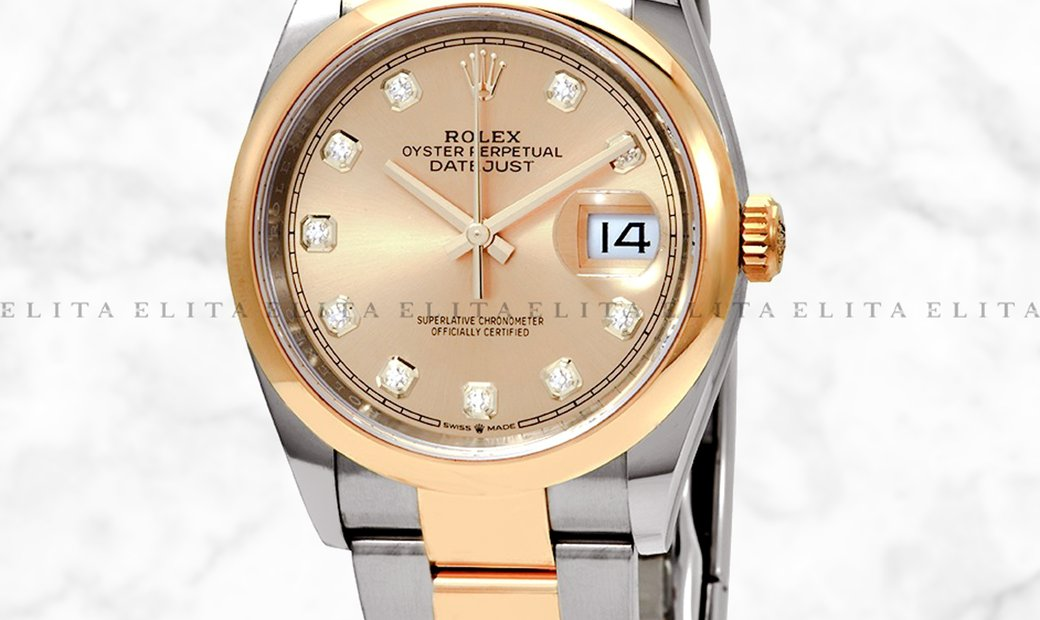 Rolex Datejust 36 126203-0018  Yellow  Rolesor Diamond Set Champagne Colour Dial Oyster Bracelet