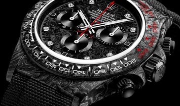 "Rolex DiW NTPT Carbon Daytona ""SPEEDSTER DIAMOND INDEX"" (Retail:US$49,500)"
