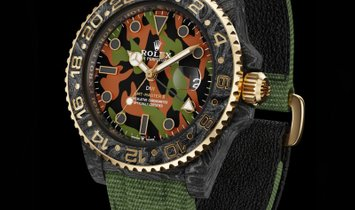 "Rolex DiW NTPT Carbon GMT-Master II ""MILITARY GMT"" (Retail: US$44,990)"
