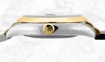 Rolex Datejust 36 126203-0021 Oystersteel and Yellow Gold Diamond Set Black Dial Jubilee Bracelet