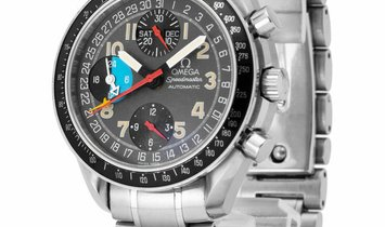 Omega Speedmaster Day-Date 3520.53.00, Arabic Numerals, 1998, Good, Case material Steel